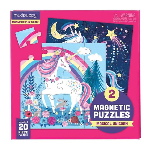 Mudpuppy - Magnetic Puzzles - Magical Unicorn